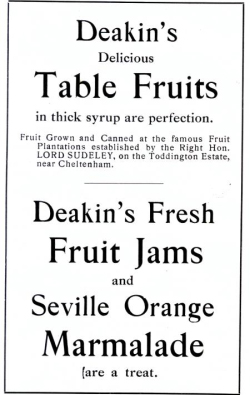 Deakin's jams and marmalade, Toddington Estate, Cheltenham, Lord Sudeley
